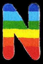 Parche Termoadhesivo Letra Letter N Arco iris 4 cm