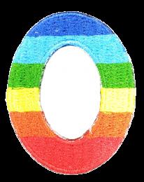 Parche Termoadhesivo Letra Letter O Arco iris 4 cm