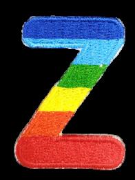 Parche Termoadhesivo Letra Letter Z Arco iris 4 cm