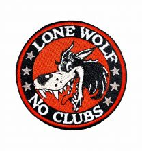 Parche Termoadhesivo Lone wolf no clubs 8cm