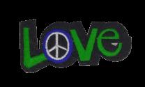 Parche Termoadhesivo Love and Peace! 6,5x3 cm