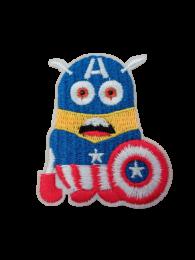Parche Termoadhesivo Minions Bob Capitan America 6,5x5,5cm