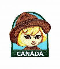 Parche Termoadhesivo Muñeca canadiense 6x5,5 cm