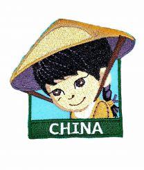 Parche Termoadhesivo Muñeca china 6x5,5 cm