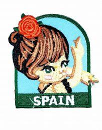 Parche Termoadhesivo Muñeca española 6x5,5 cm