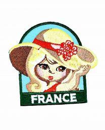Parche Termoadhesivo Muñeca francesa 6x5,5 cm