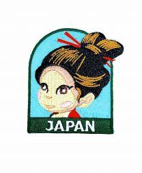 Parche Termoadhesivo Muñeca japonesa 6x5,5 cm