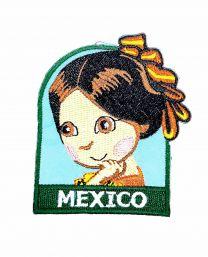 Parche Termoadhesivo Muñeca mexicana 6x5,5 cm