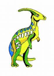 Parche Termoadhesivo Parasaurolophus 10x5cm