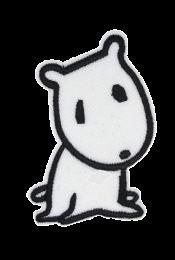 Parche Termoadhesivo Perro Comic Stile White 7x4,5 cm