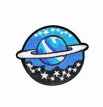 Parche Termoadhesivo Planeta blue 8,5x6,5 cm
