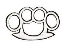 Parche Termoadhesivo Puño Americano 8cm