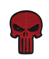 Parche Termoadhesivo Punisher Red 5,5x4 cm