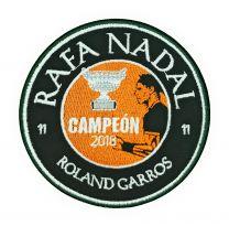 Parche Termoadhesivo Rafa Nadal 11 Roland Garros 9cm