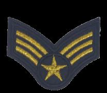 Parche Termoadhesivo Rango Sargento US Army 7x5cm