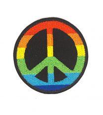 Parche Termoadhesivo Símbolo Hippie 5,5cm