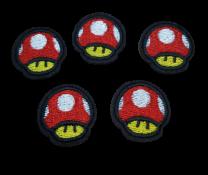 Parche Termoadhesivo Seta Mario Bros Pack 5 2,5cm
