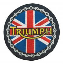 Parche Termoadhesivo Triumph Modelo Redondo 8 cm