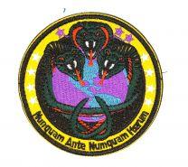 """Parche Bordado U.S Air Force """"Nunquam Ante Numquam Iterum"""" 8cm"""