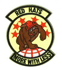 Parche Bordado U.S Air Force Red Hats More With Less 8cm