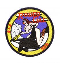 Parche Bordado U.S Air Force Rodeo Gal 8cm