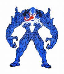 Parche Termoadhesivo Venom en guardia 10x,8,5cm