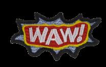 Parche Termoadhesivo WAW! 8x5 cm