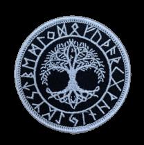 Parche Yggdrasil Futhark Arbol de la Vida 7 cm Termoadhesivo