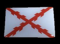Pegatina Bandera Aspa de Borgoña o Cuz de San Andres 7x4cm Recreación Histórica-Réplica Militar