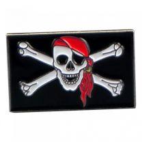 Pin de Solapa Bandera Pirata 25x15mm