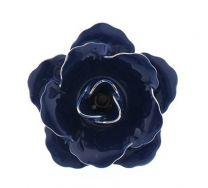 Pin Broche de Solapa Flor Azul Oscuro