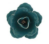 Pin Broche de Solapa Flor Azul Verdoso