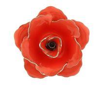 Pin Broche de Solapa Flor Rosa Oscuro