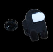 Pin de solapa Among Us Negro 25mm