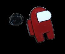 Pin de solapa Among Us Rojo 25mm