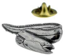 Pin de Solapa Anguila Plateada