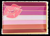 Pin de Solapa Bandera Lipstick Lesbian LGTBI