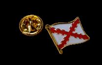 Pin de Solapa Bandera Mastil Aspa de Borgoña Cruz de San andres 15mm