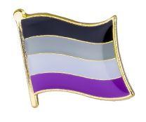 Pin de Solapa Bandera Orgullo Asexual LGTBI