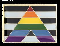 Pin de Solapa Bandera Bear Brotherhood Straight Allies LGTBI