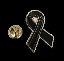Pin de Solapa Black Ribbon-Lazo Negro