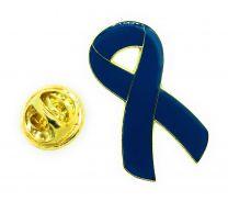 Pin de Solapa Blue Ribbon-Lazo Azul
