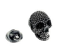 Pin de Solapa Calavera Black and Steel Dotted