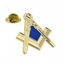 Pin de Solapa Compas y Regla Masonica 28x25mm