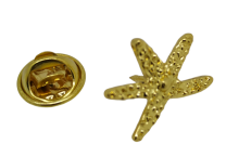 Pin de Solapa Estrella de Mar Golden 20x18mm