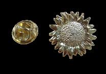 Pin de Solapa Girasol Golden 15mm