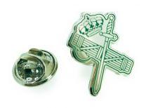 Pin de Solapa Guardia Civil Haz de Lictores y Espada Verde