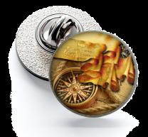 Pin de Solapa Magglass Ilustraciones Rosa de los Vientos Nº10 16mm