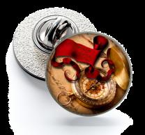 Pin de Solapa Magglass Ilustraciones Rosa de los Vientos Nº13 16mm