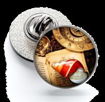 Pin de Solapa Magglass Ilustraciones Rosa de los Vientos Nº14 16mm